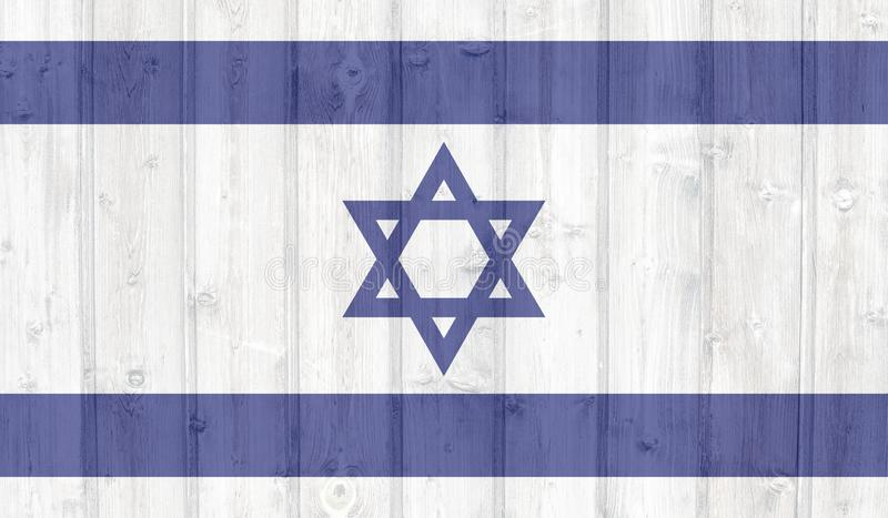 Grunge israel flag royalty free illustration