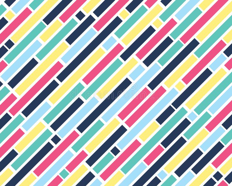 Pattern of colorful square shape and geometric on white background. Vector illustration vector illustration