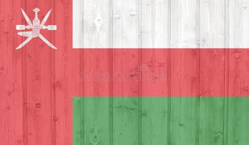 Grunge oman flag. On wood royalty free illustration