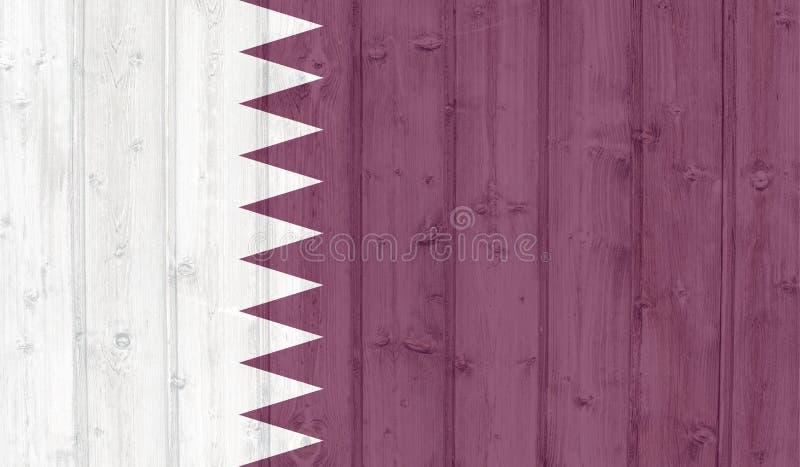 Grunge qatar flag vector illustration