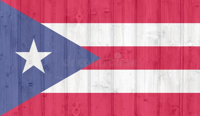 Grunge  puerto rico flag. Grunge puerto rico flag on wood royalty free stock image