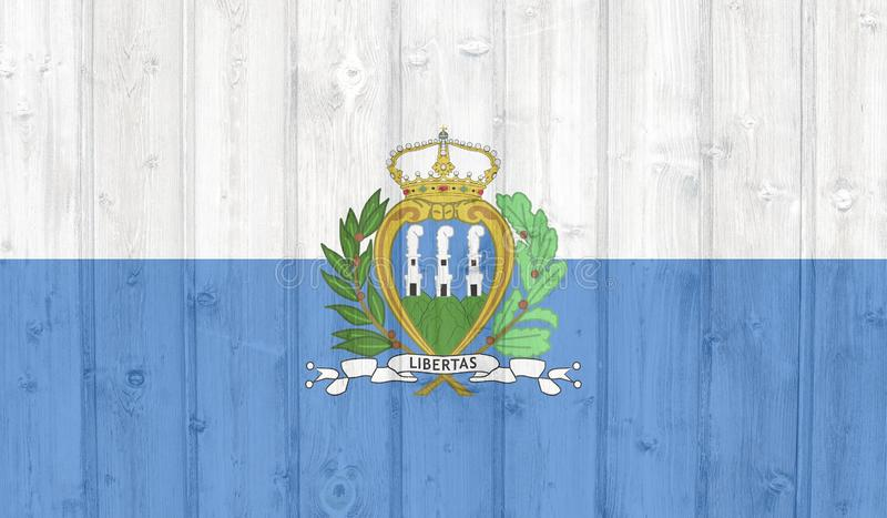 Grunge san marino flag stock illustration