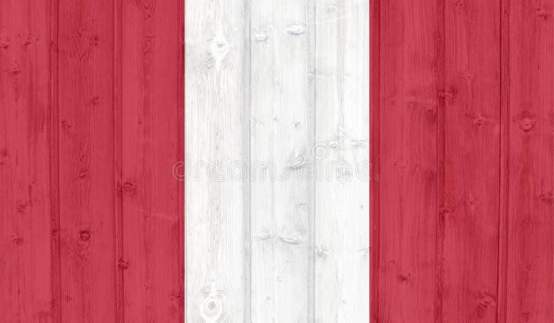 Peru flag royalty free illustration