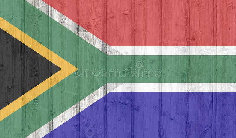 South africa flag stock illustration