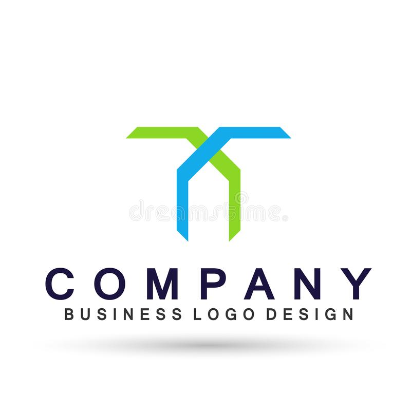 Abstract square shaped business Logo union on Corporate Invest Business Logo design. Financial Investment on white background royalty free illustration