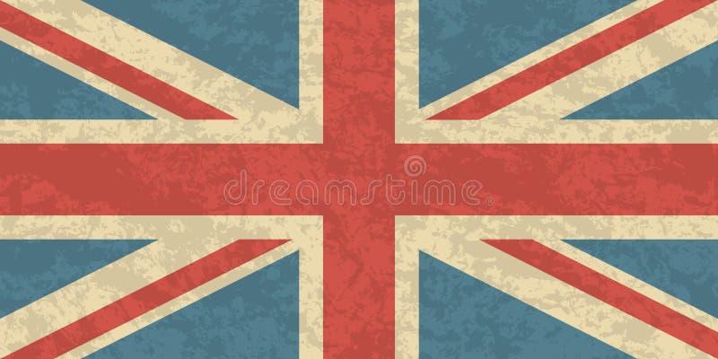 Great Britain, United Kingdom flag. UK flag icon. Waving Flag of United Kingdom. Great Britain waving flag vector illustration