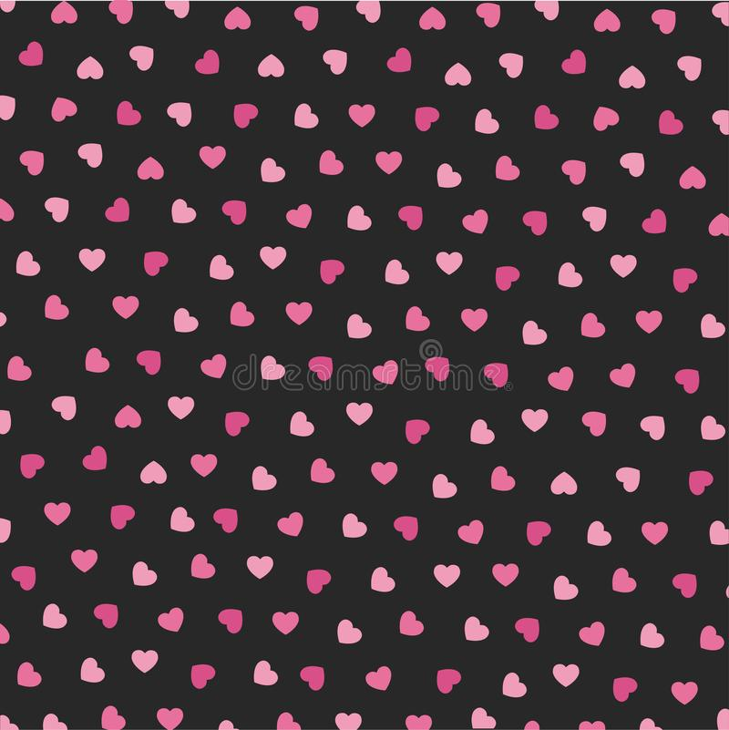 Heart Icons Seamless Pattern For Valentine stock illustration