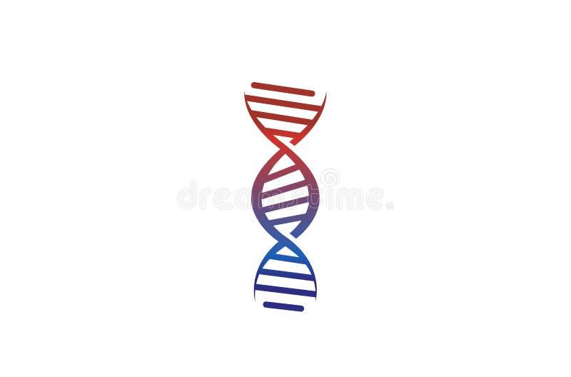 Creative Abstract Dna Spiral Helix Logo Design Vector Symbol Illustration stock illustration