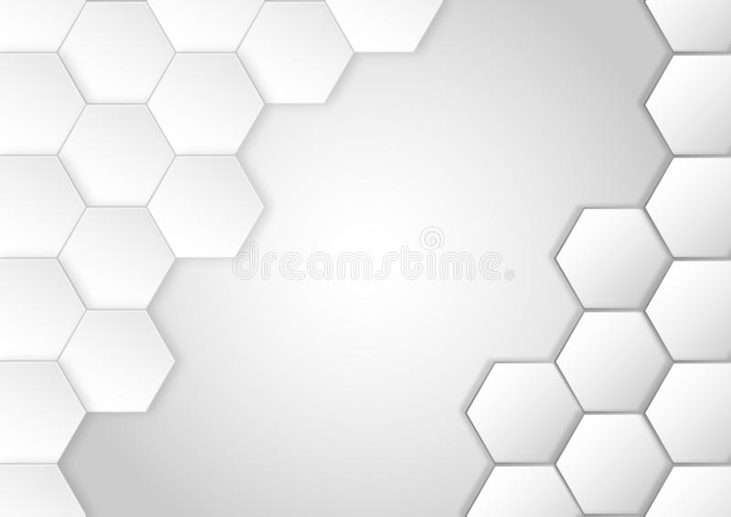 Grey Hexagons Pattern for Abstract Background royalty free stock images