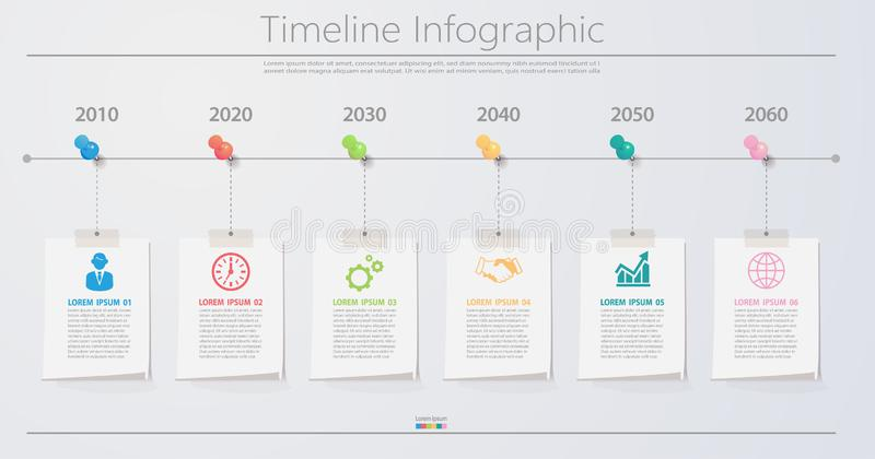 Business data visualization. timeline infographic icons designed for abstract background template. royalty free illustration