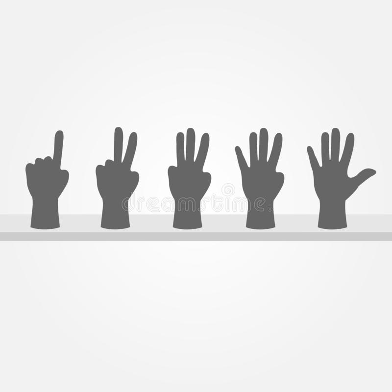 Hands Number stock images