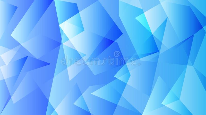 Blue Background with Polygonal Pattern stock photos
