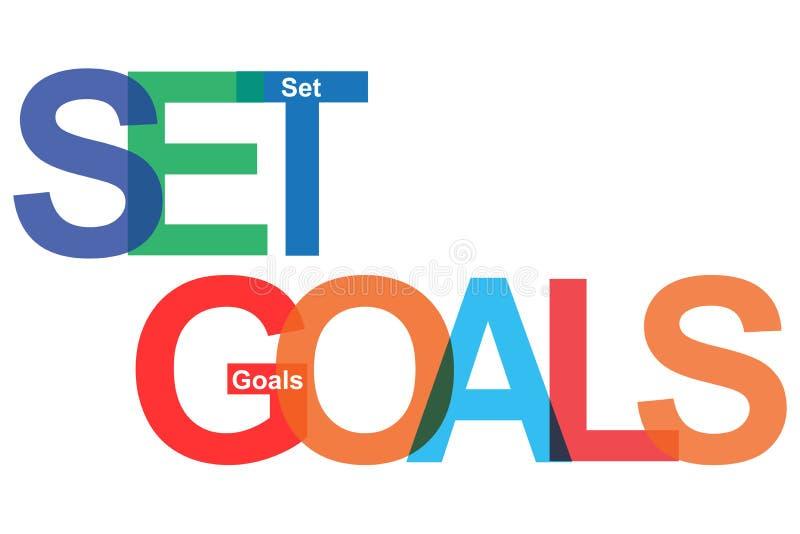 Colorful set goals on white royalty free illustration