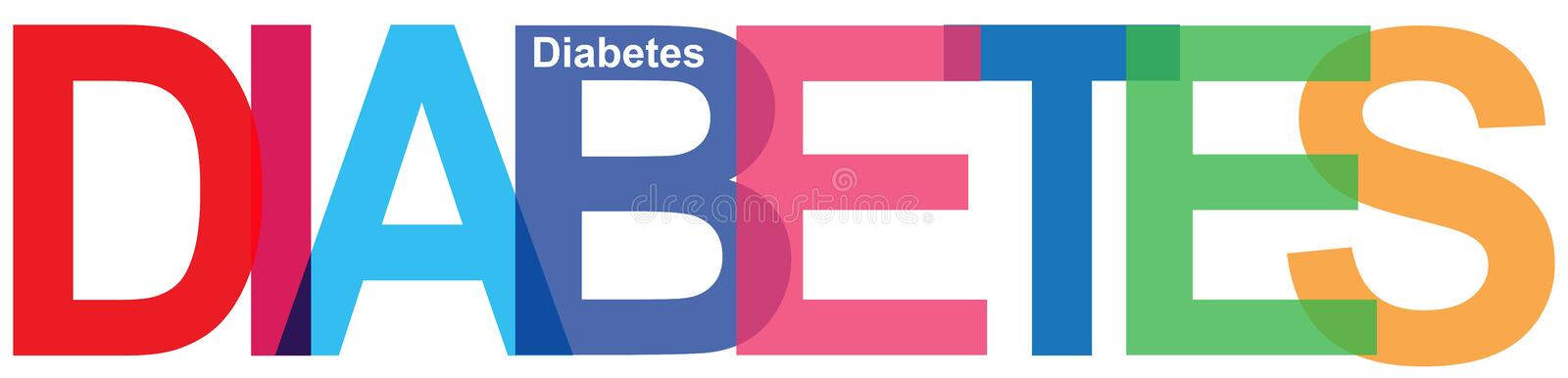 Colorful diabetes word vector illustration
