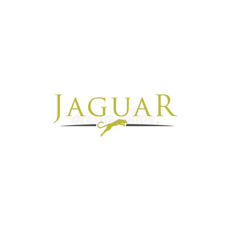 Simple elegant roaring jaguar logo icon illustration vector template design. royalty free illustration
