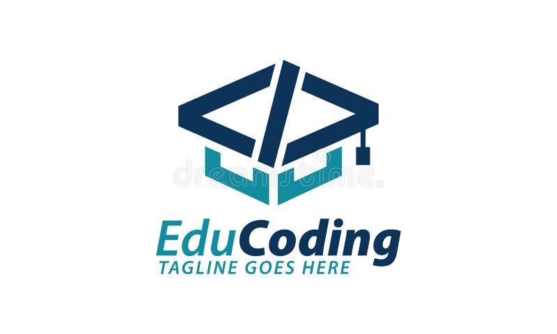 Education concept logos, digital code logo illustration, coding, programmer logo icon vector, media logo. royalty free illustration