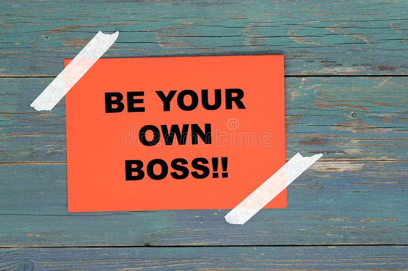 Be your own boss on paper stock illustration