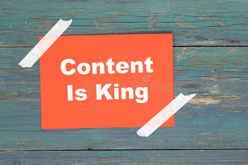 Content is king on white. Content is king word on white royalty free stock photo