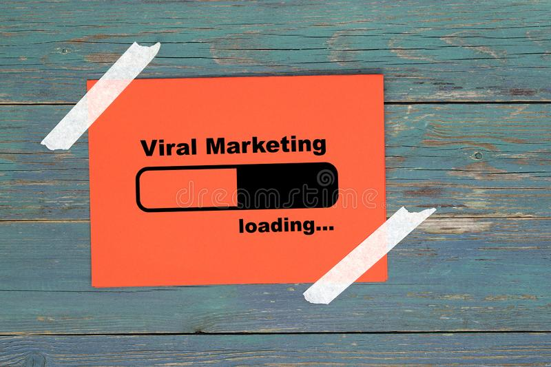 Viral marketing on paper royalty free stock photos