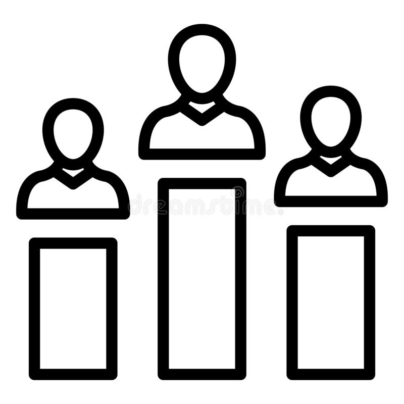 Candidate ranking, hierarchy  Isolated Vector Icon that can be easily modified or edit royalty free illustration