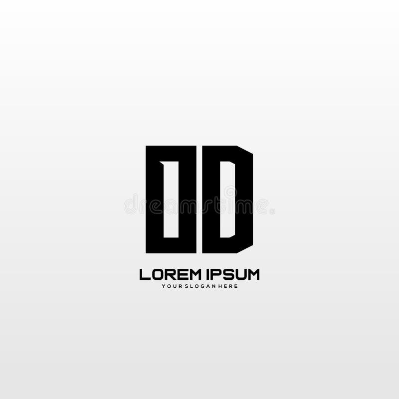 Initial letter OD minimalist art logo vector. Initial letter minimalist art logo vector, building, construction, real estate stock illustration