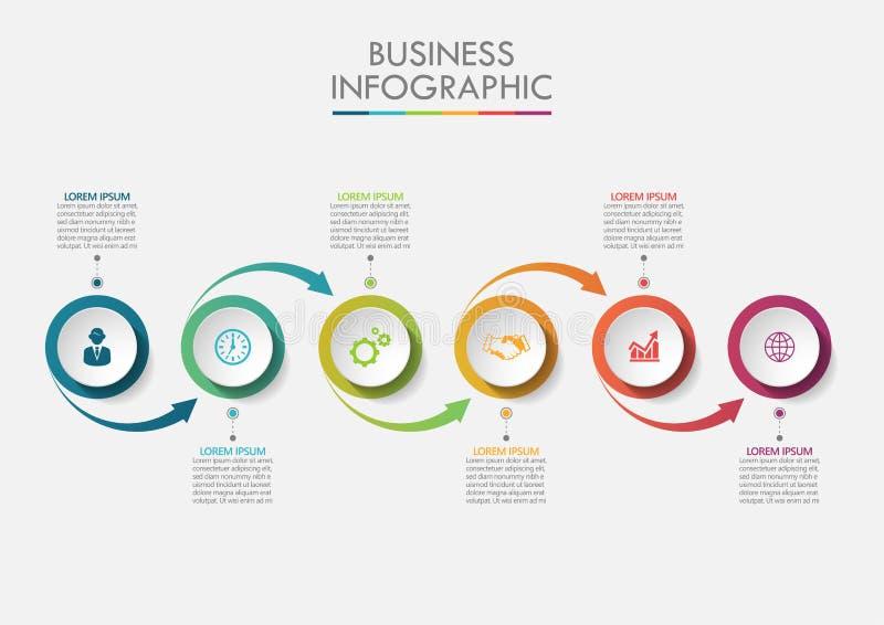 Presentation business infographic template stock illustration