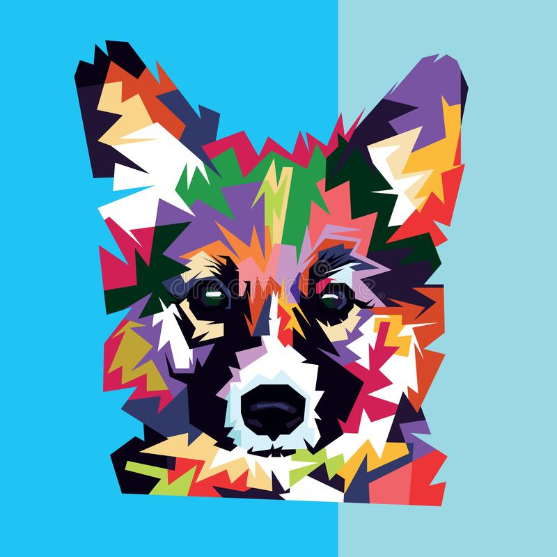 Animals Dog Vector Pop Art stock illustration