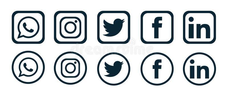 Set Of Popular Social Media Logos Icons Instagram Facebook Twitter Youtube Whatsapp Pinterest Linkedin Element Vector Editorial Photo Illustration Of Vimio Google 161803786