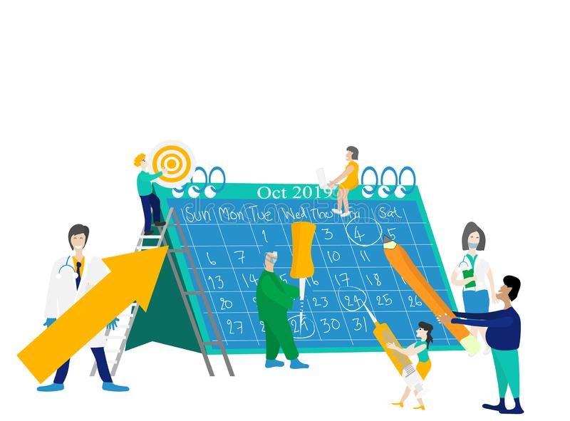 Work calendar vector royalty free stock image