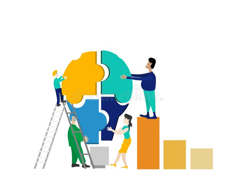 Team worker idea thinking vector royalty free stock image