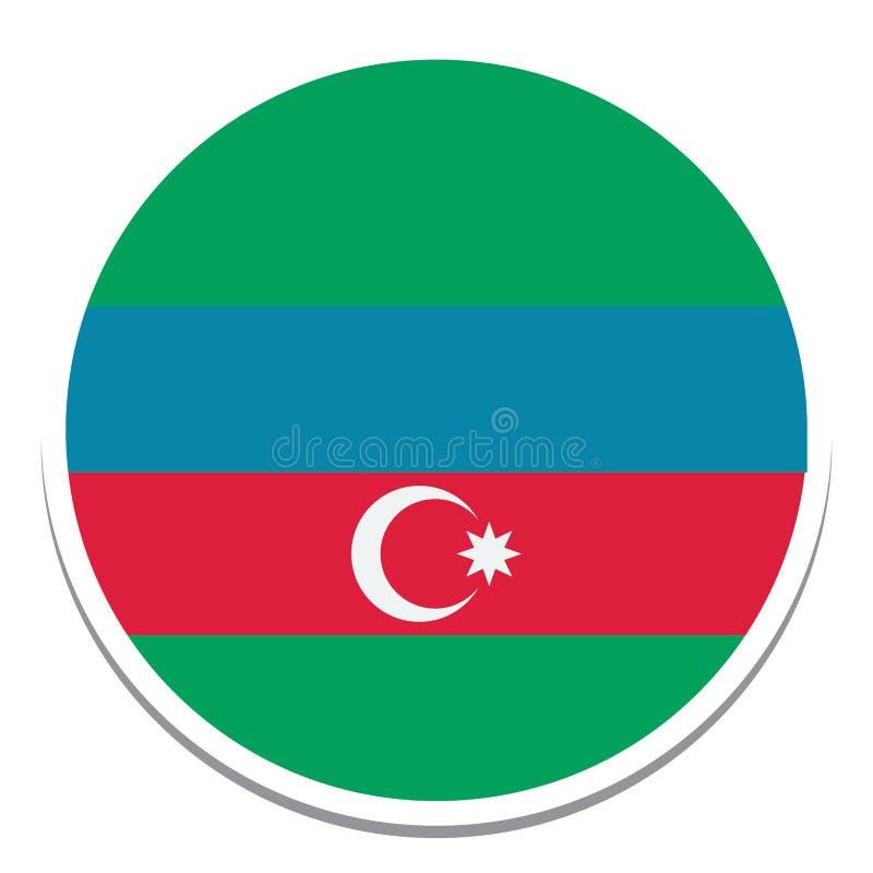 Azerbaijan Flag  Isolated Vector Illustration you can edit it royalty free illustration