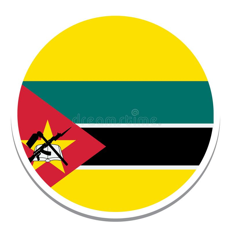 Flag of mozambique Flag  Isolated Vector Illustration you can edit it vector illustration