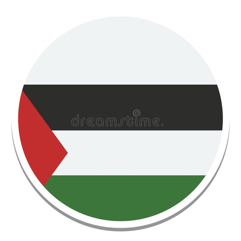 Flag of palestine Flag  Isolated Vector Illustration you can edit it royalty free illustration