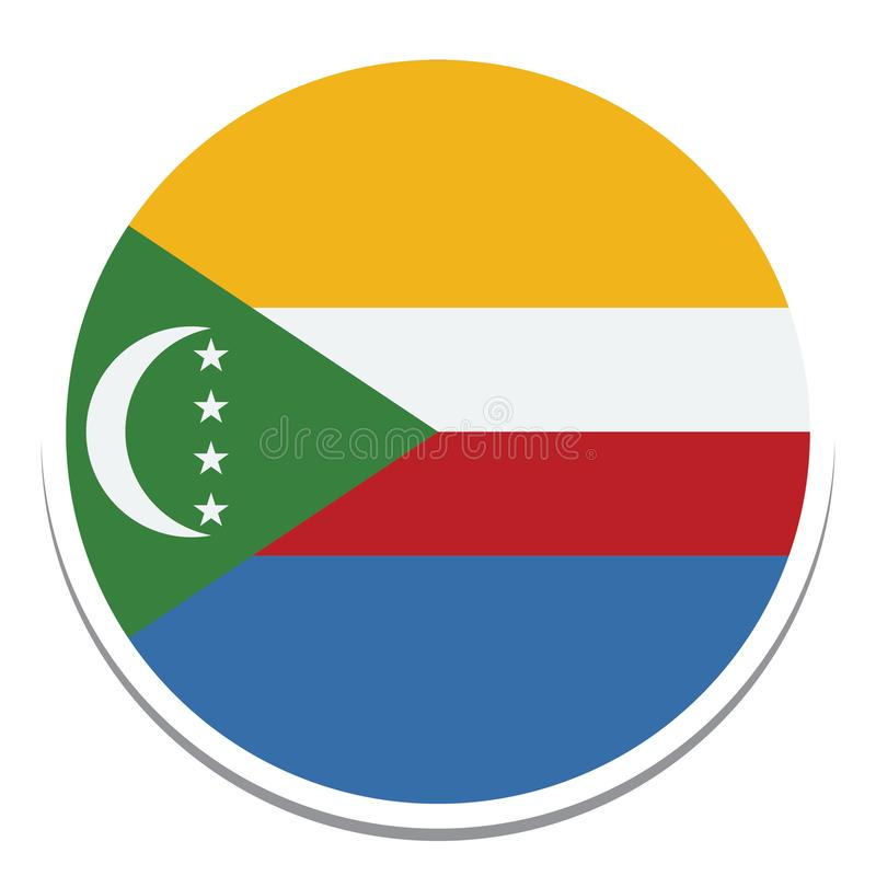 the comoros Flag  Isolated Vector Illustration you can edit it royalty free illustration