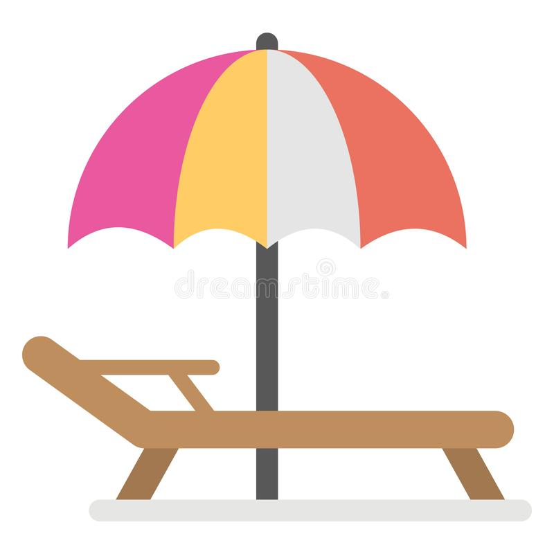 Beach day  Color Vector Icon Isolated and fully editable stock illustration