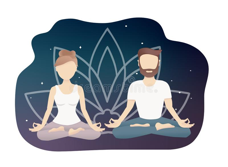 Meditating Couple Stock Illustrations 510 Meditating Couple Stock Illustrations Vectors Clipart Dreamstime