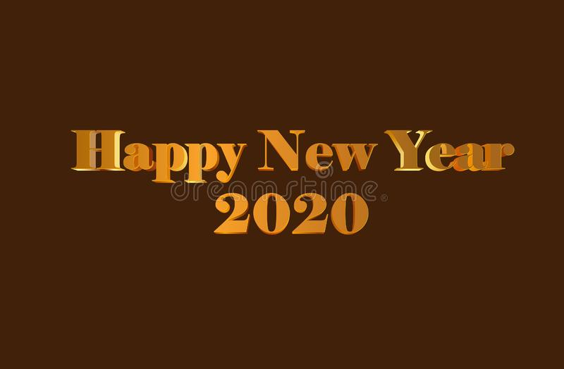 Happy New Year 2020 Graphics Background Wallpaper Greeting stock photography