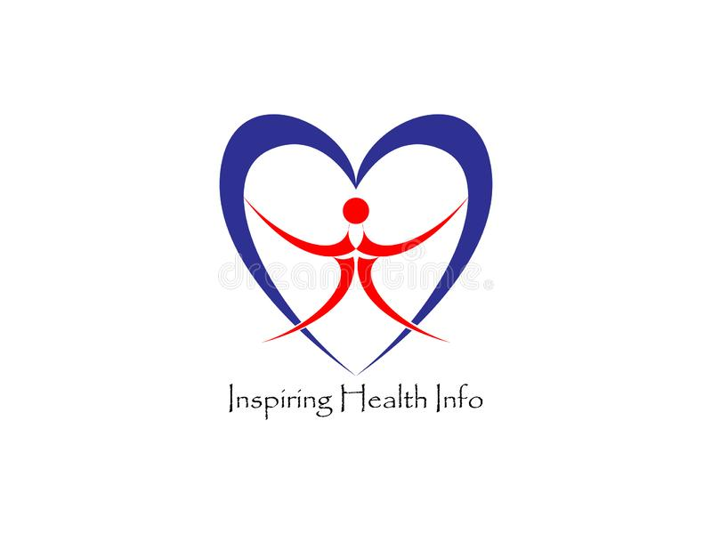 Word writing text Inspiring Health Info logo template. stock illustration