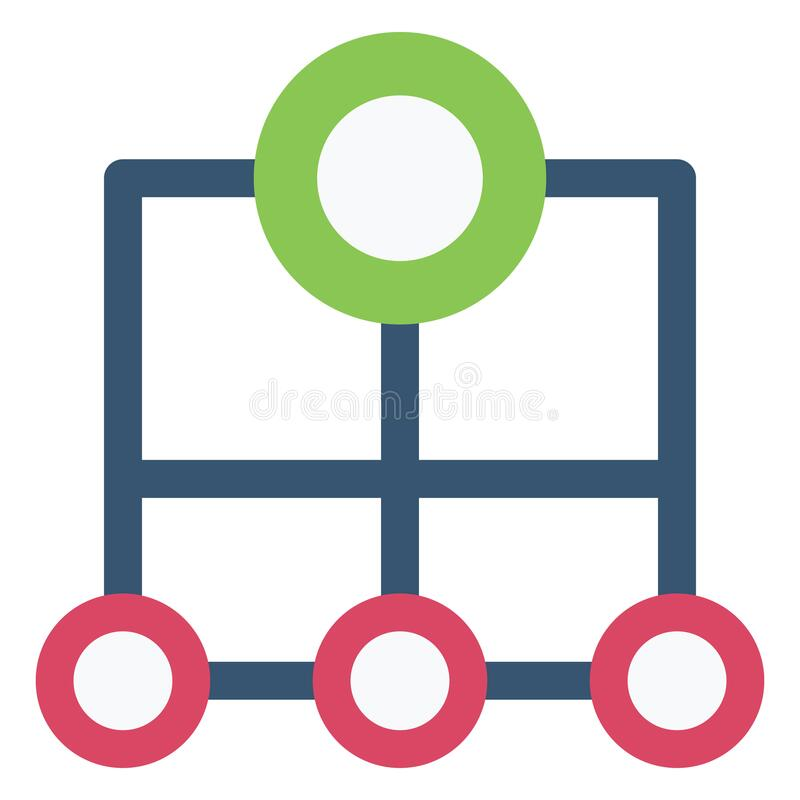 Sitemap Color Vector Icon which can easily modify or edit stock illustration