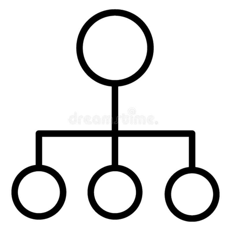 Hierarchical structure  Glyph Style vector icon which can easily modify or edit vector illustration