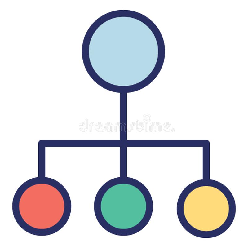 Hierarchical structure  Glyph Style vector icon which can easily modify or edit stock illustration