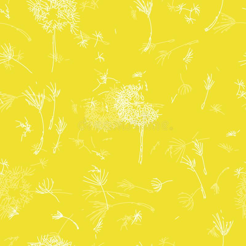 Sour Lemon Dandelions. stock illustration