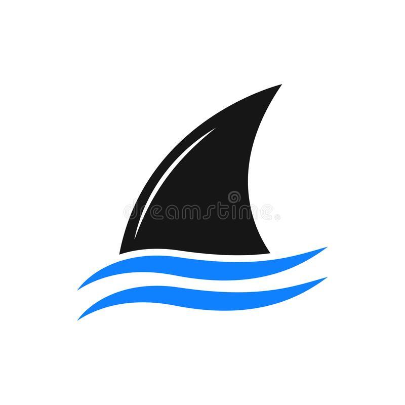 Free Basic RGBFin Shark Above The Water Modern Logo Symbol Royalty Free Stock Photos - 205764418