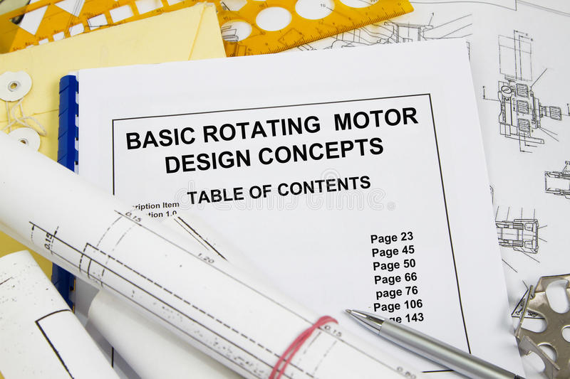 Basic rotating motor design concept. Presentation- many uses in the oil and gas industryn stock image