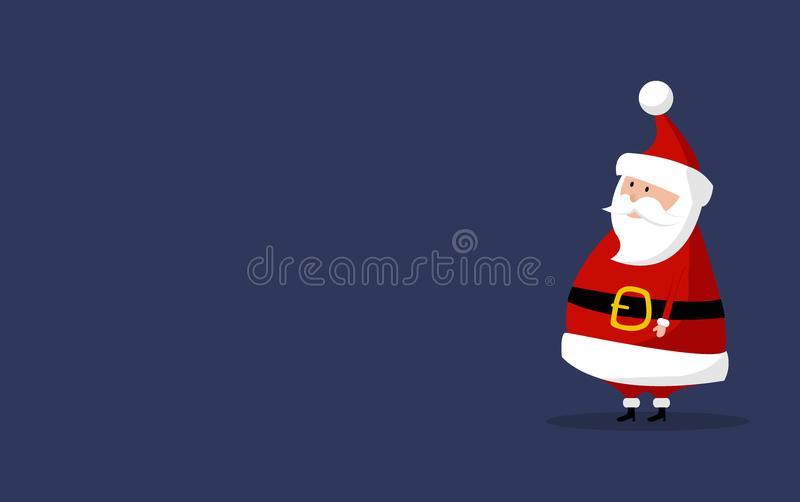 Basic Santa Claus Vector with copyspace on the right. Classic Santa In Red Suit royalty free stock photography