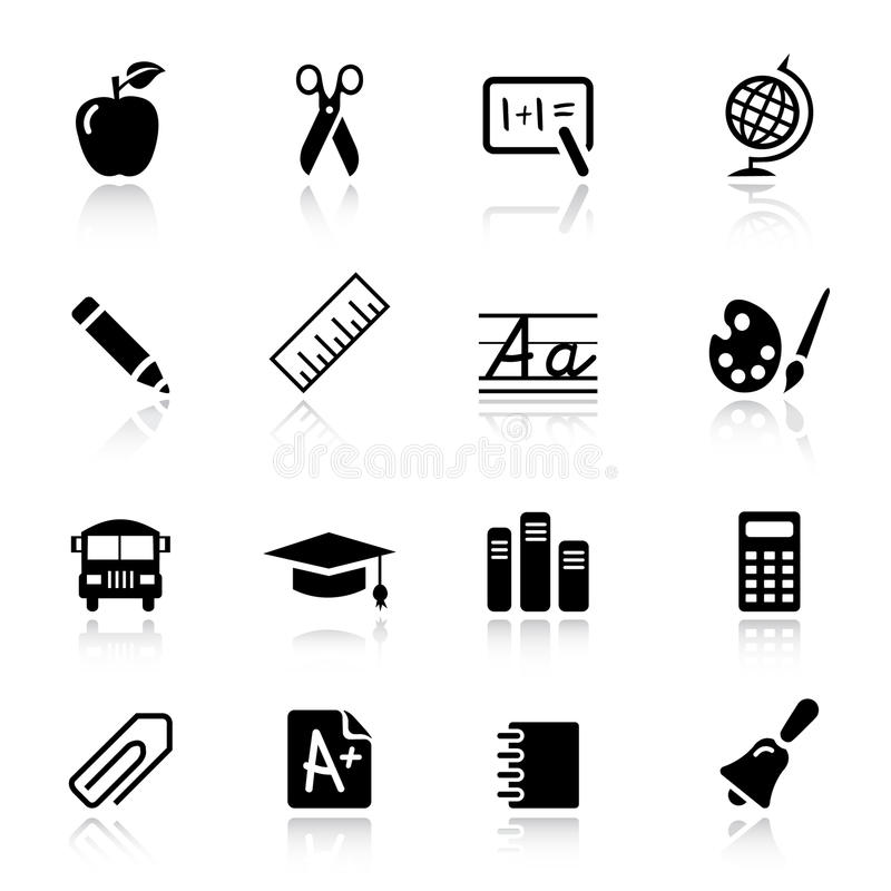 Basic - School Icons royalty free illustration