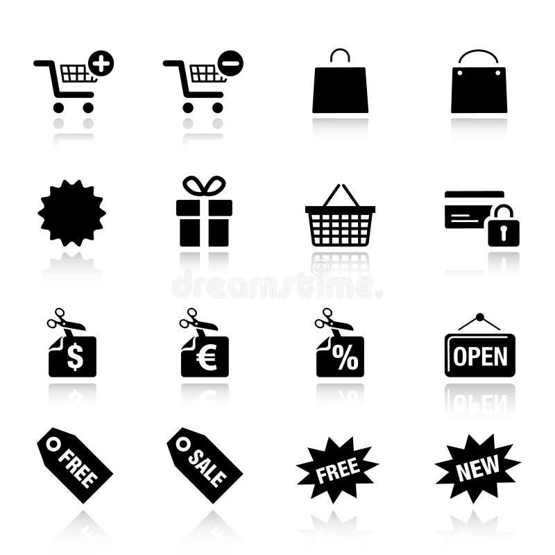 Basic - Shopping icons royalty free illustration