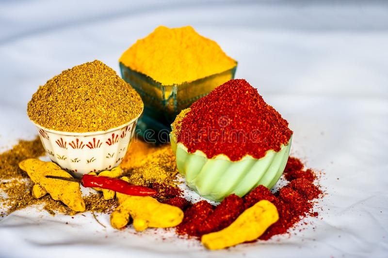 Basic spices of Indian food. royalty free stock photo
