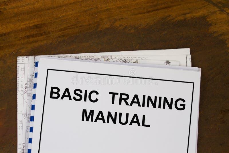 Basic training manual royalty free stock image