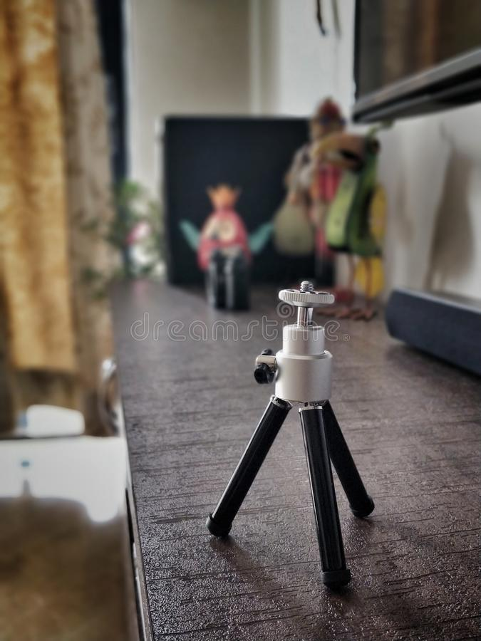 Basic tripod. Basics tripod for phone and other small devices royalty free stock photo